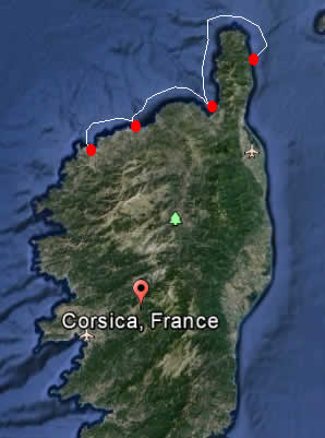 7 Day Itinerary - From Macinaggio to the west coast of Corsica