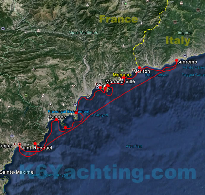 7 Days Itinerary - From Saint-Raphael to San Remo