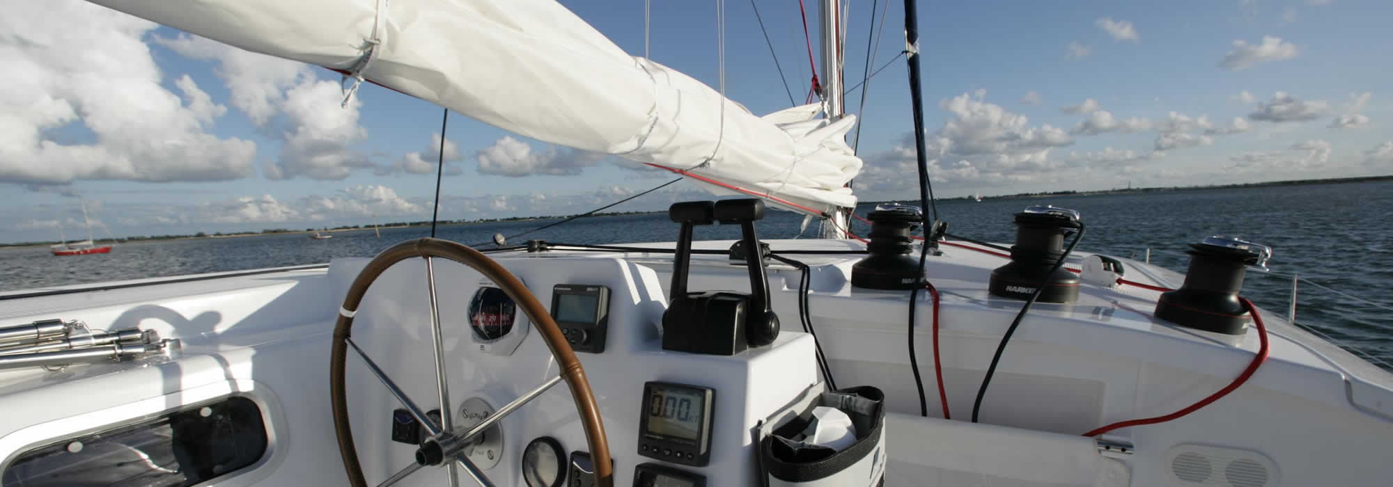 Catamaran crewed charter